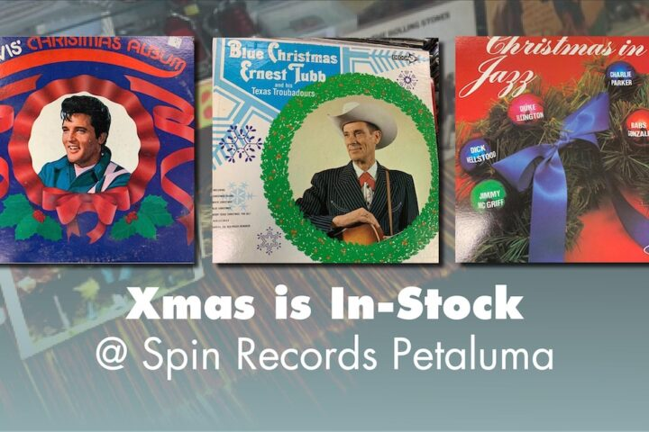 xmas records at spin records petaluma