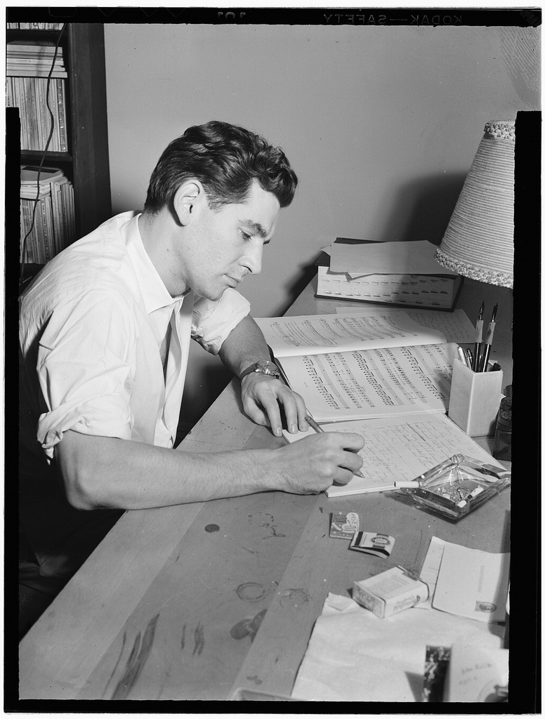 [Portrait of Leonard Bernstein in his apartment, New York, N.Y., between 1946 and 1948] (LOC)