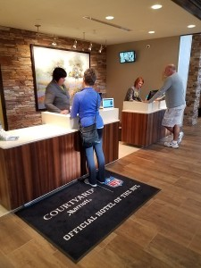 Photo of Custom Millwork- Front Desk at Courtyard by Marriott in Sedona, Arizona