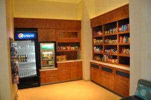 Custom commercial millwork for a snack bar at a hotel in Grand Junction