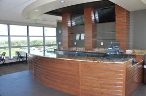 Custom bar area for hospitality suite