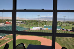 View of Suplizio Field from the hospitality suite