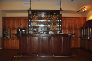 Custom commercial millwork for a bar area of Wine Country Inn in Palisade