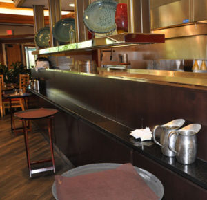 Custom commercial millwork of a server's station at the Doubletree Inn, Grand Junction