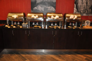 Custom commercial millwork of the breakfast area at the Doubletree Inn, Grand Junction
