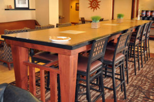 Photo of commercial millwork for a hotel in Moab, UT