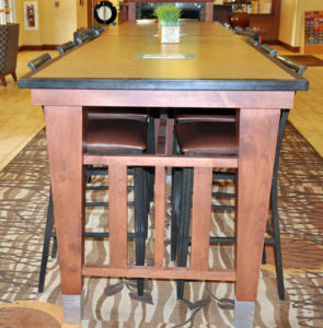 Photo of commercial custom millwork for a hotel in Moab, U