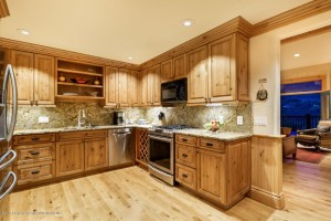 Photo of remodeled kitchen in Aspen penthouse