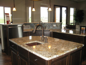 Alder wood kitchen cabinets in a Fruita home