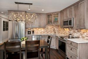 photo of Medallion line knotty alder kitchen cabinets