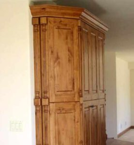 Custom cabinets made of alder wood for a home in Denver