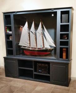 Photo of a custom display Case/Entertainment Center.