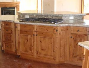 Custom made alder wood kitchen cabinets for a home in Denver