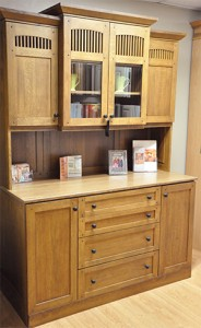 Mission style hutch built by Osburn Cabinets and Design