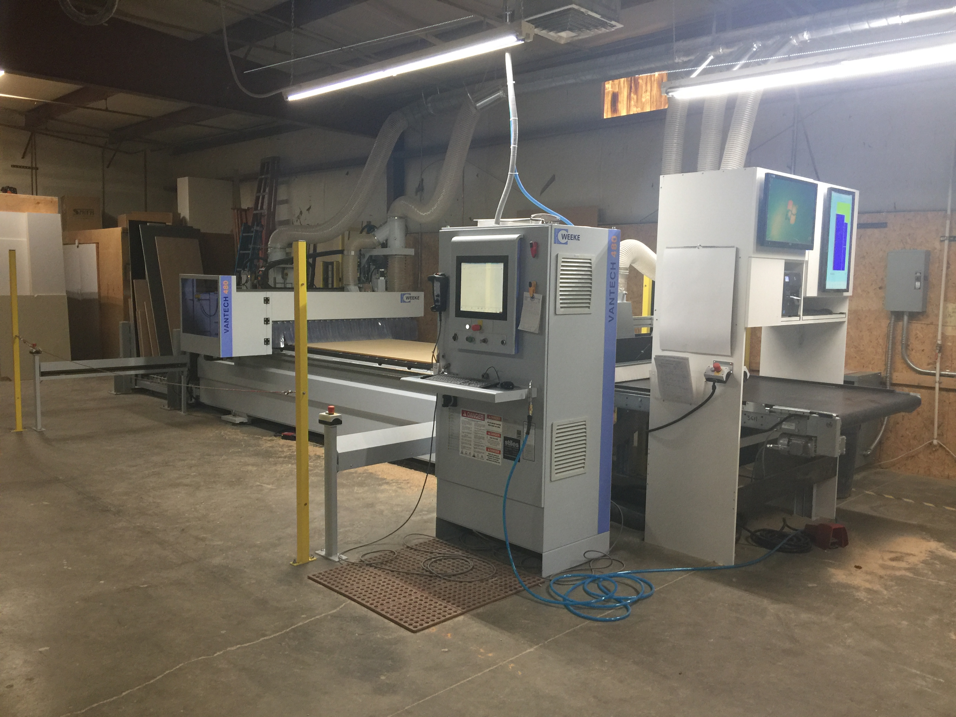 photo of WEEKE Vantech 480 Concept 2 nesting CNC router at Osburn Cabinets