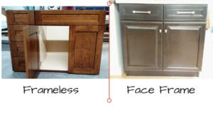 Face Frame vs Frameless Cabinets