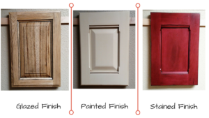 Glazed vs Painted vs Stained cabinet finish