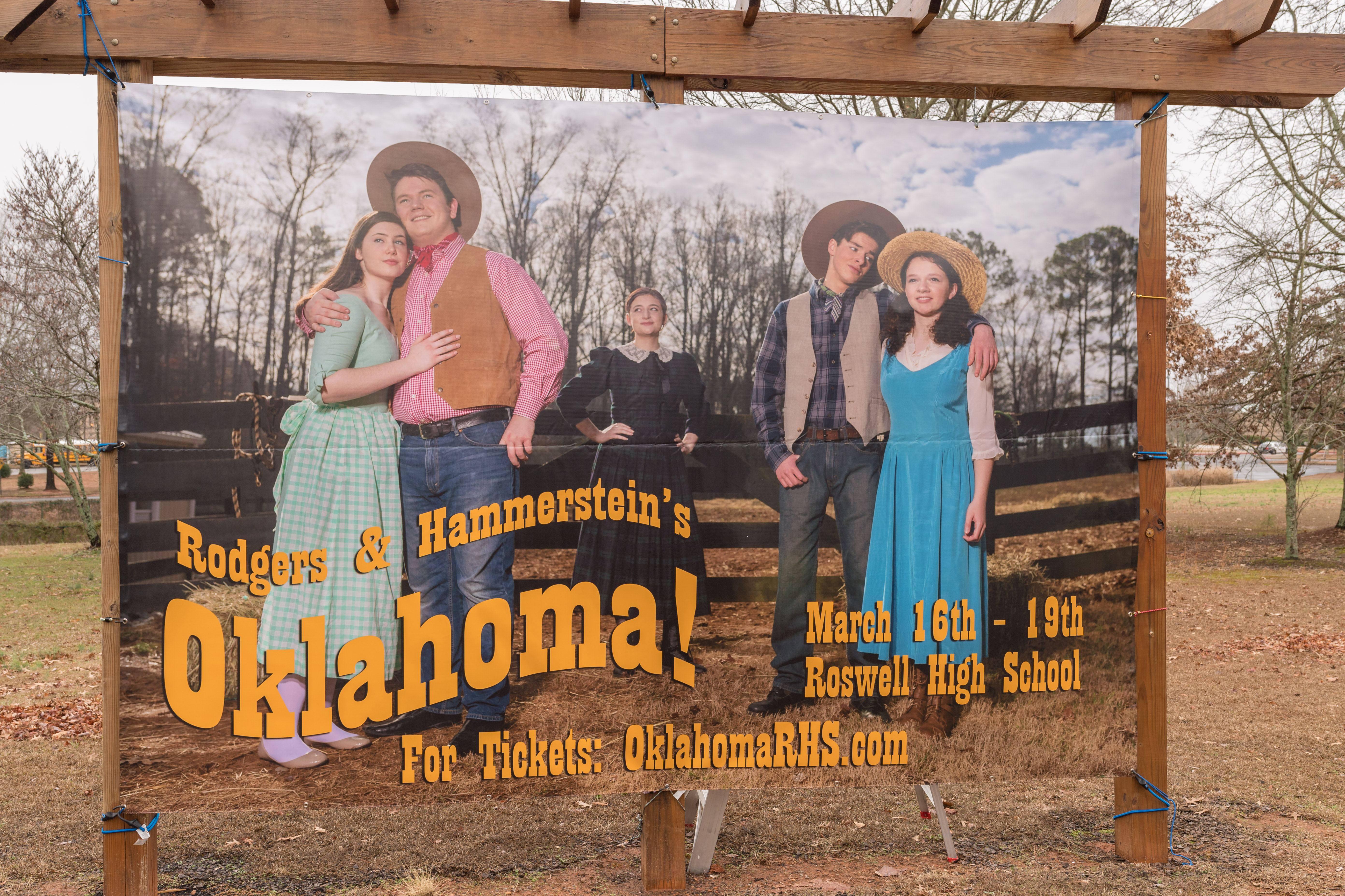 The How To – 12′ x 8′ Oklahoma! Musical Banner
