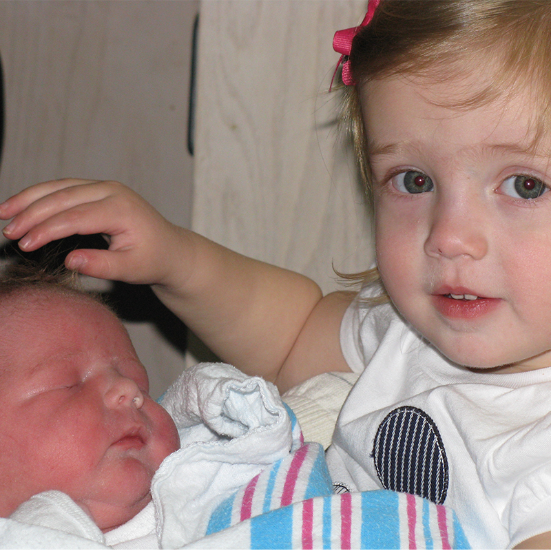 Sibling and newborn care