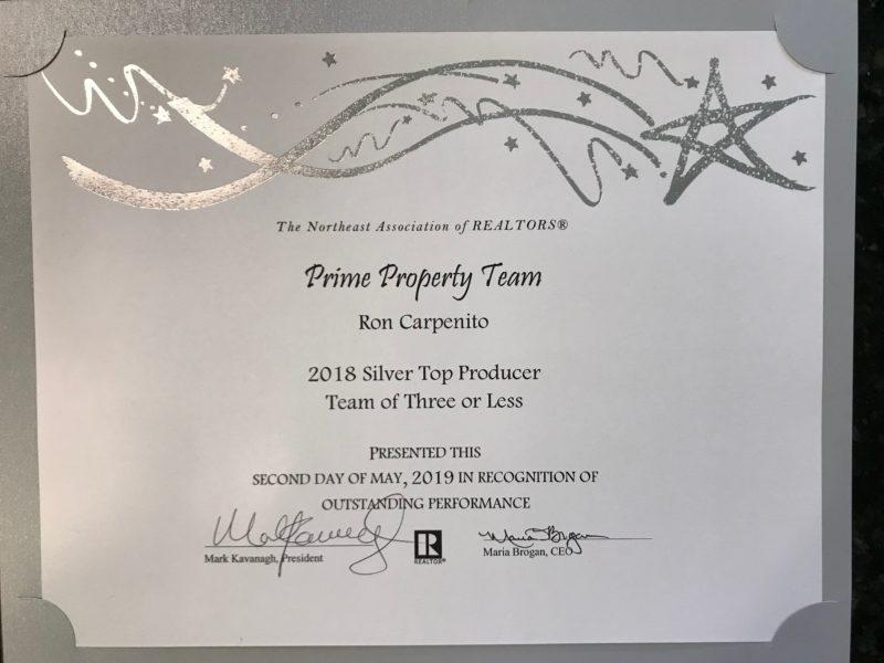 Prime Property Team Top Producer Award