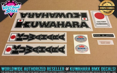 Factory Correct 1983-1984 Kuwahara Apollo BMX Decal Stickers