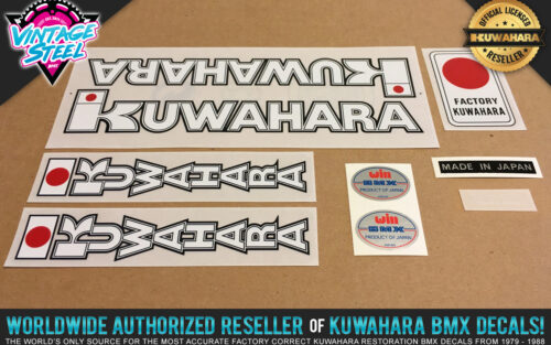 Factory Correct 1982 Kuwahara Apollo BMX Decal Stickers