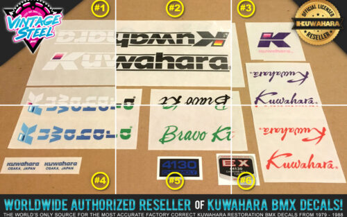 Factory Correct 1986 Kuwahara Bravo KT BMX Decal Stickers