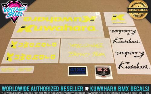 Factory Correct 1987 Kuwahara Bravo Team BMX Decal Stickers