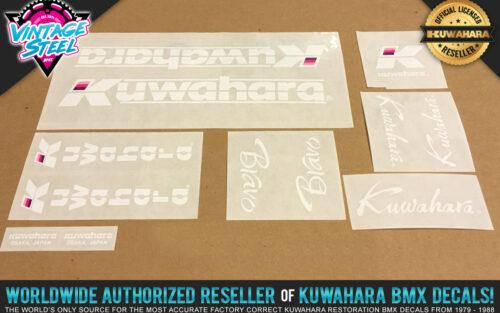 Factory Correct 1984-1985 Kuwahara Bravo BMX Decal Stickers