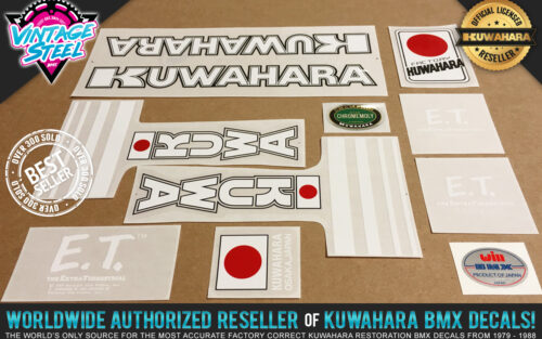 Factory Correct 1982 Kuwahara E.T. BMX Decal Stickers