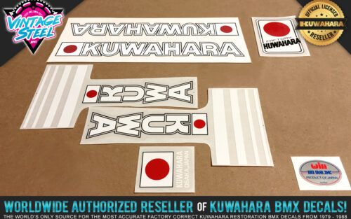 Factory Correct 1982 Kuwahara E.T. Movie Replica BMX Decal Stickers