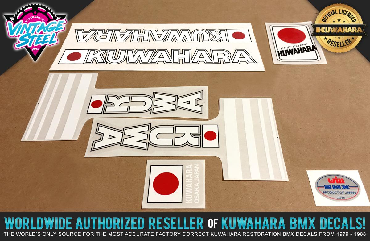 Factory Correct 1982 Kuwahara E.T. Movie Replica BMX Decal Stickers