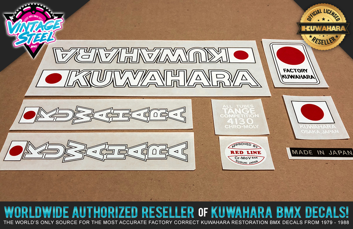 Factory Correct 1980-1981 Kuwahara Early KZ BMX Decal Stickers