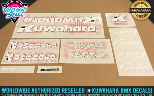 Factory Correct 1987 Kuwahara Hopper BMX Decal Stickers