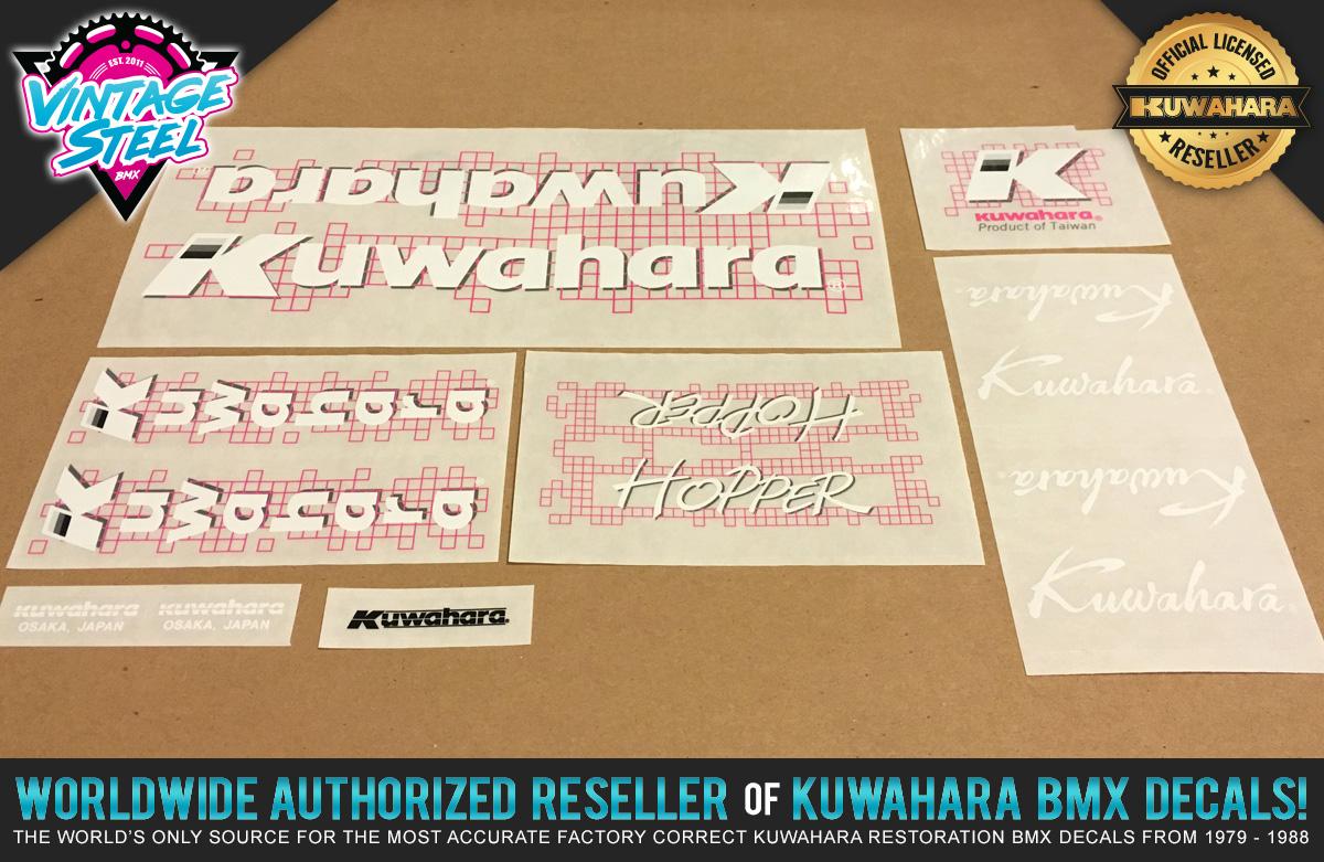 Factory Correct 1987 Kuwahara Hopper BMX Decal Stickers