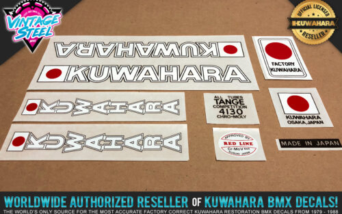 Factory Correct 1979-1980 Kuwahara KE BMX Decal Stickers