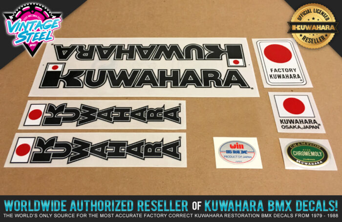 Factory Correct 1983 Kuwahara KYZ BMX Decal Stickers