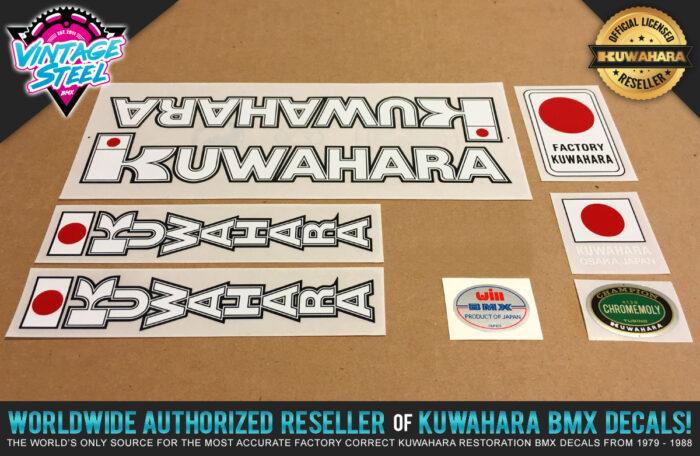Factory Correct 1982 Kuwahara KYZ BMX Decal Stickers