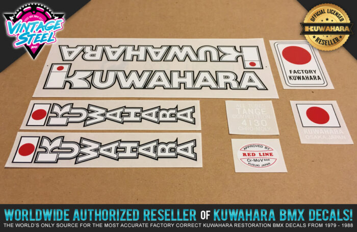 Factory Correct 1980-1982 Kuwahara KZ BMX Decal Stickers