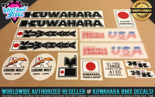 Factory Correct 1984-1985 Kuwahara Exhibitionist BMX Decal Stickers