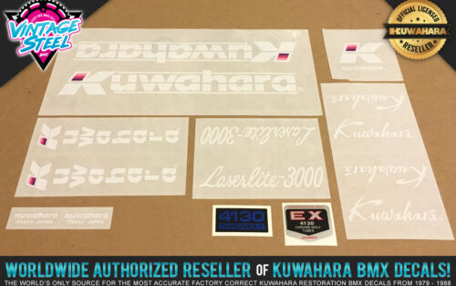 Factory Correct 1986-1987 Kuwahara Laserlite-3000 BMX Decal Stickers