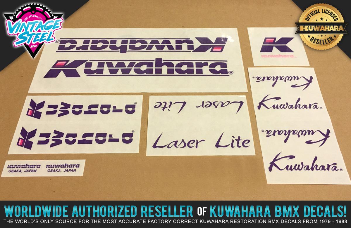 Factory Correct 1985-1986 Kuwahara Laser-Lite BMX Decal Stickers