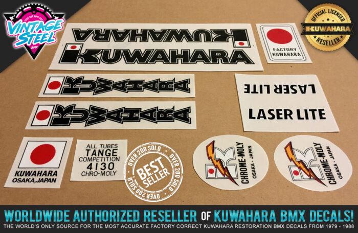 Factory Correct 1982 Kuwahara Laserlite BMX Decal Stickers