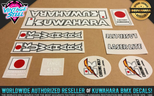 Factory Correct 1983-1984 Kuwahara Laserlite BMX Decal Stickers