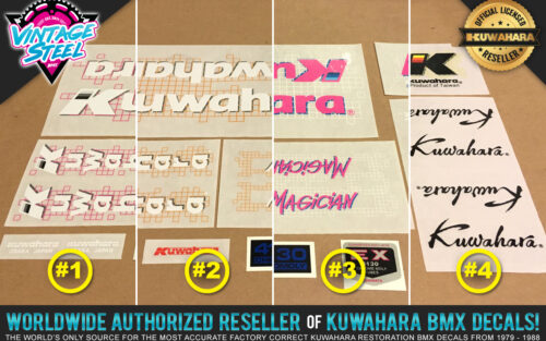 Factory Correct 1987 Kuwahara Magician BMX Decal Stickers