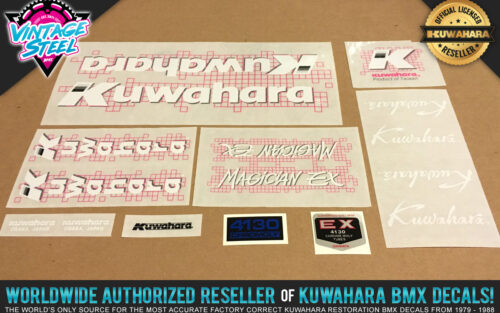 Factory Correct 1987 Kuwahara Magician EX BMX Decal Stickers