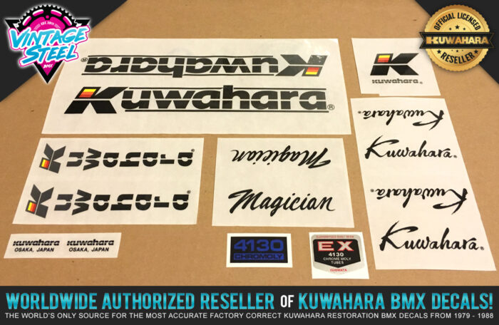 Factory Correct 1986 Kuwahara Magician BMX Decal Stickers