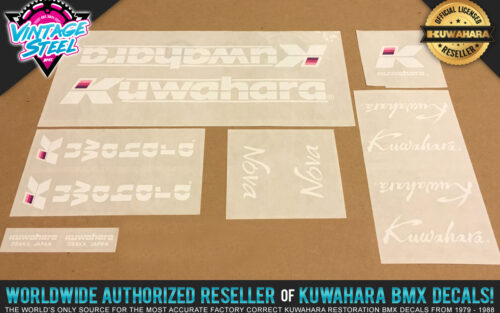 Factory Correct 1985-1986 Kuwahara Nova BMX Decal Stickers