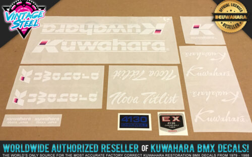 Factory Correct 1986-1987 Kuwahara Nova Titlist BMX Decal Stickers