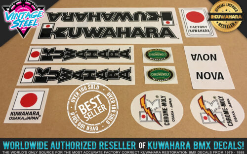 Factory Correct 1983-1984 Kuwahara Nova BMX Decal Stickers